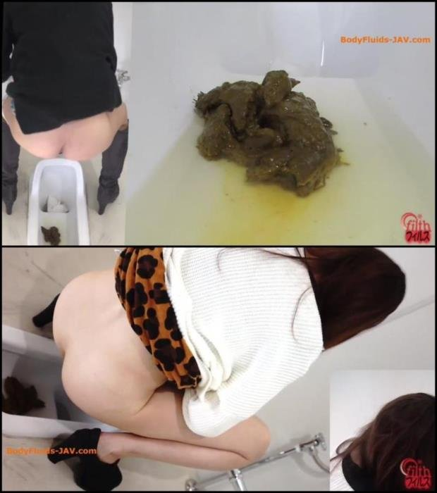 Big pile feces, girls defecates in toilet. - BFFF-160 [FullHD 1080p] - 300 MB