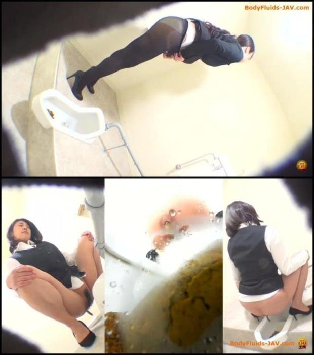 Girls defecates long feces in the toilet. - BFEE-45 [FullHD 1080p] - 547 MB