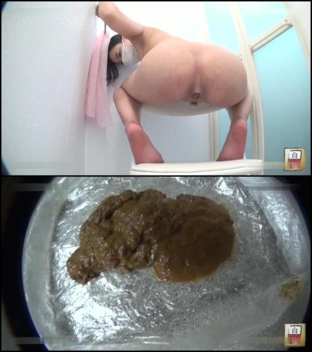 Naked japanese girls in resperator pooping in bathroom. - BFJG-81 [FullHD 1080p] - 1.50 GB