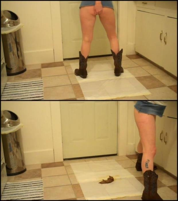 Blonde pooping long turd in an erotic pose. - Special #408 [FullHD 1080p] - 544 MB