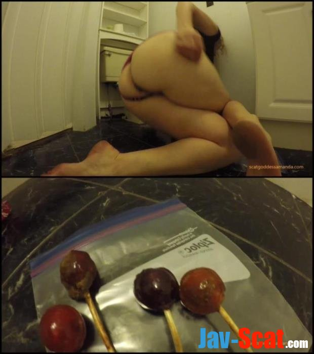 Defecation in toilet and masturbate dirty ass lollipop. - Special #252 [FullHD 1080p] - 829 MB