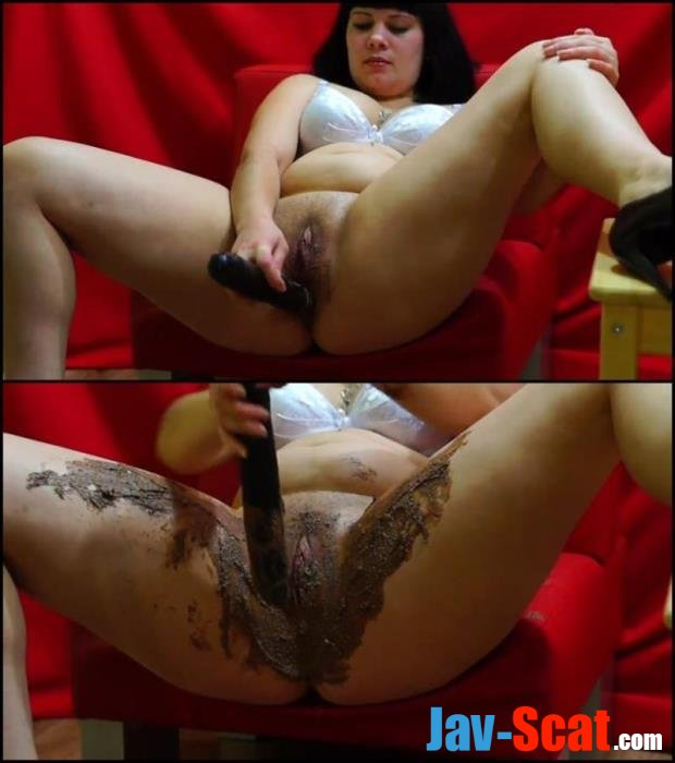 BBW girl anal masturbation with shit. - Special #189 [FullHD 1080p] - 382 MB